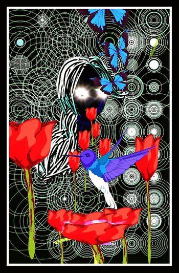 Hello World Hi! Women Love ♥ Devotion Ambitious Life Nature Painting Digital Art Define Art