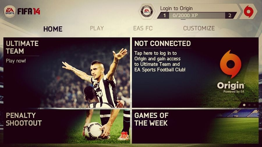 playing is Fifa14 Game Android Sony Xperia U