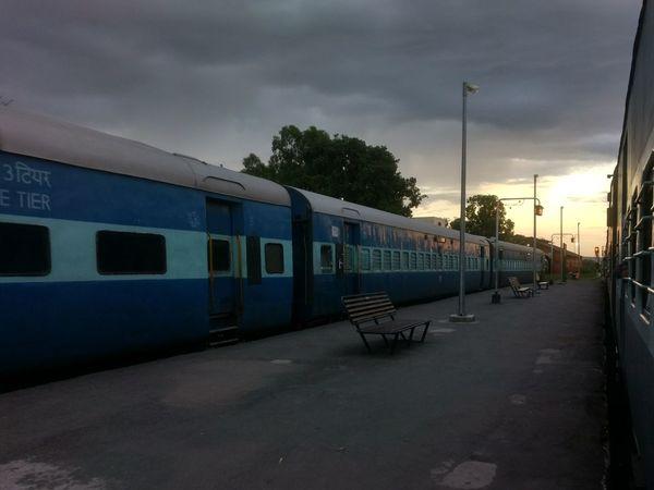 Destination anywhere Train Station Train Tracks Destination Unknown Sunset No People
