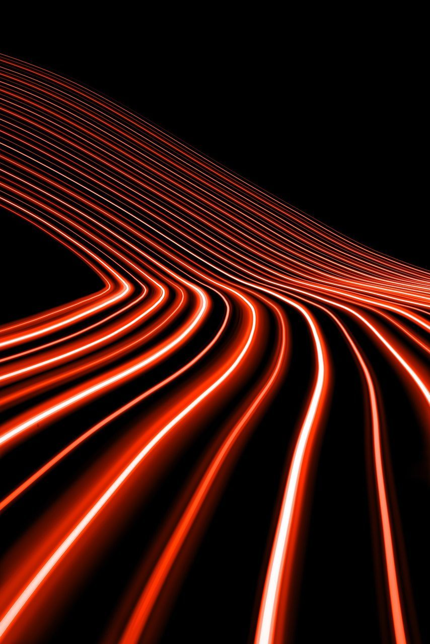 red, illuminated, light trail, abstract, night, pattern, speed, vibrant color, studio shot, black background, no people, long exposure, motion, curve, backgrounds, data, neon, electricity, multi colored, outdoors, technology, complexity, futuristic