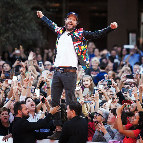 Rome, Italy - October 16, 2016. The Italian singer Jovanotti with his fans on the red carpet of the 11th International Film Festival of Rome. Crazy Moments Fans Front View Happiness Jovanotti Lifestyles Lorenzo Lorenzocherubini Outdoors Person Singer  Standing Onemanshow Rome Film Festival Famous People Red Carpet Event News Redcarpet LifeIsGood💜 Celebrity Rome Film Fest Jova