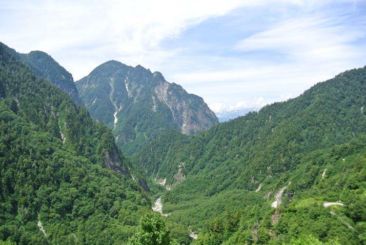 Scenic view of mount tateyama