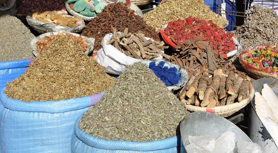 Abundance Africa African Arabian Bazaar Culture For Sale Market Market Stall Marrakesh Morocco Sale