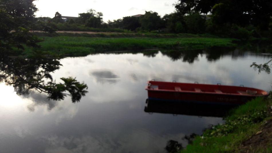 Canal near my home at Samutprakarn near Bangkok in Thailand , View, Nature, Sunlight,canal, morning, Boat
