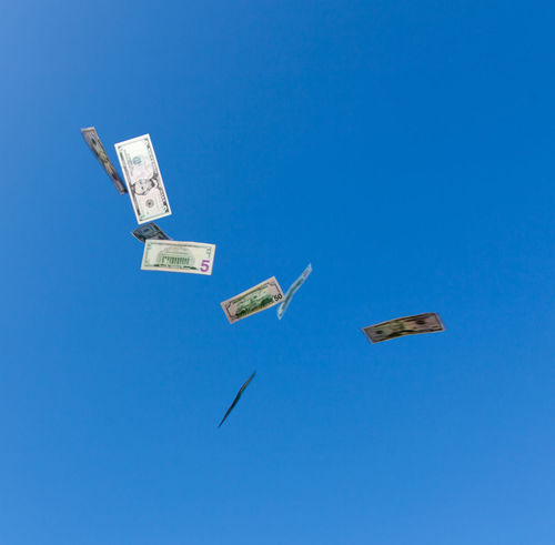 Dollar notes falling from the sky Blue Sky Currency Dollar Notes Earnings Falling From Above Falling From The Sky Income Jackpot Make Money Money Money Money Money Save Money US Dollar