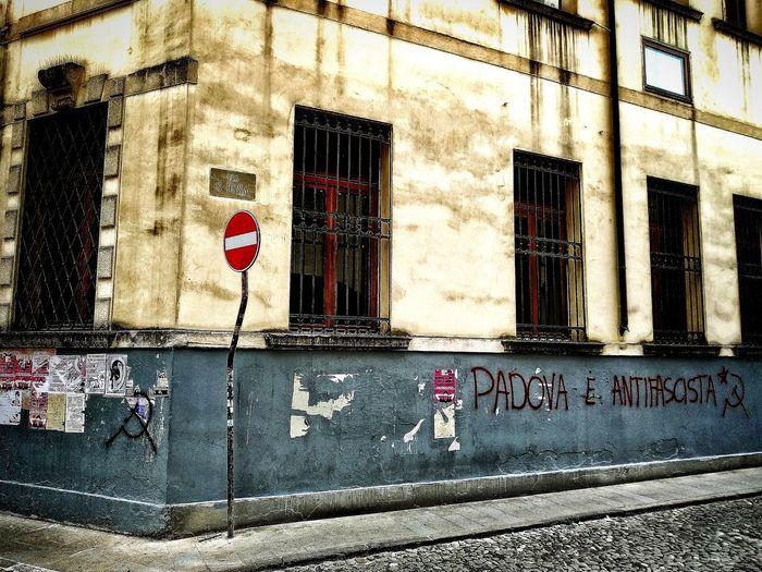 Padova, Aprile 2019 Hdr_Collection Urban City Street Graffiti Antifa Communication Text Road Sign Building Exterior