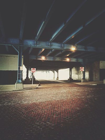 Under A Bridge Downtown Cleveland