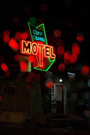 Lonely Motel Rainy Night Rain Drops Rain Bokeh Illuminated Night Neon Text Communication No People Outdoors Defocused Nightlife Close-up Motel Sign Rain Solitude Cold Landscape Lonely Alone