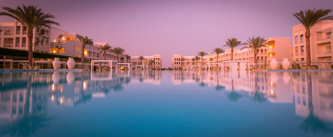 Egypt Hotel Pool Makadi Bay Egypt Relaxing Holiday Donothing Getaway  Sunset Bluehour First Eyeem Photo