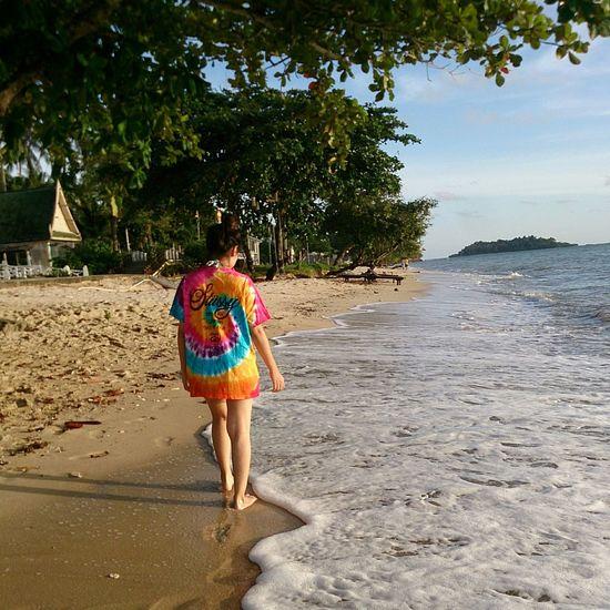 Walk Along Beach Sea