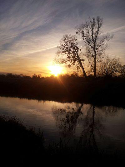 Sunset. Poland