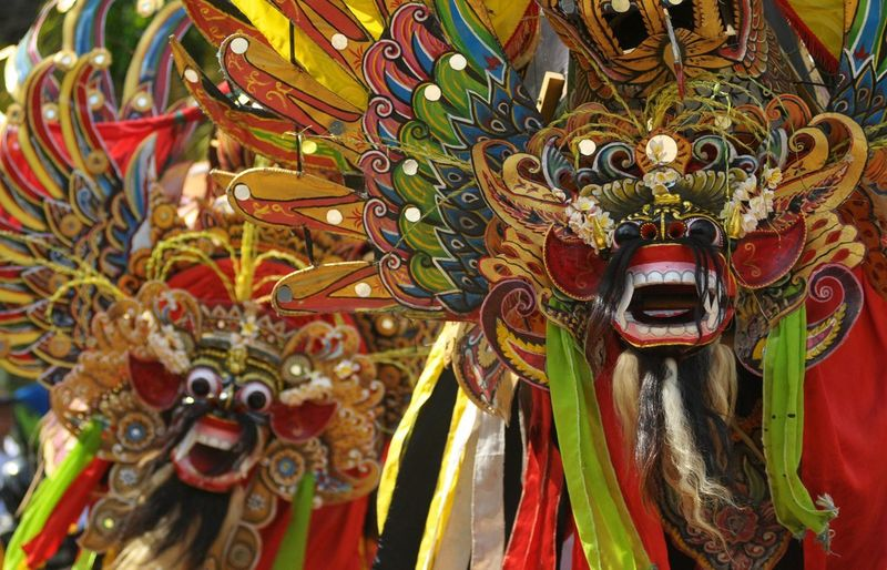 Barong banyuwangi Cultures Tradition Multi Colored Traditional Festival Arts Culture And Entertainment Outdoors Jawa Timur Banyuwangi INDONESIA Nikon