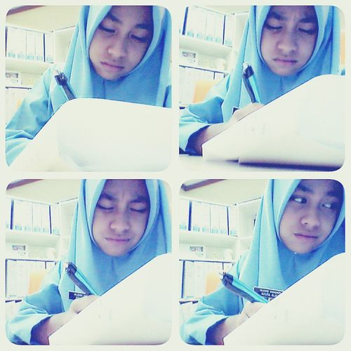 monday ,before upsr ..hard study ♡ That's Me