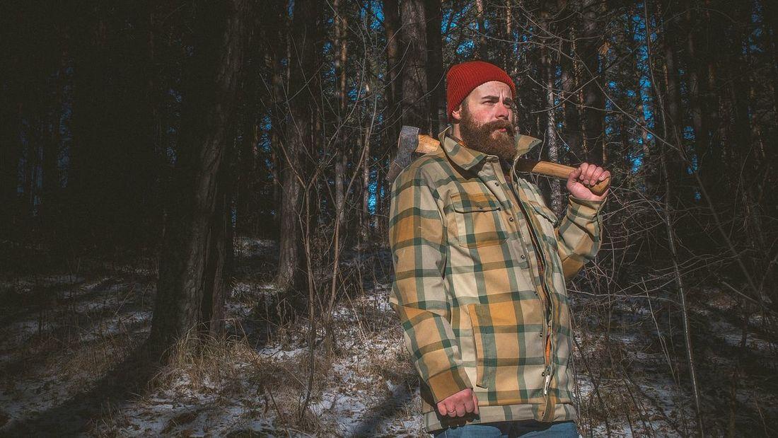 В каждом мужчине должен быть характер! Иногда фото это подтверждают)) Lumberjack Beard Forest Photosession Siberia Photomodel Imsiberian