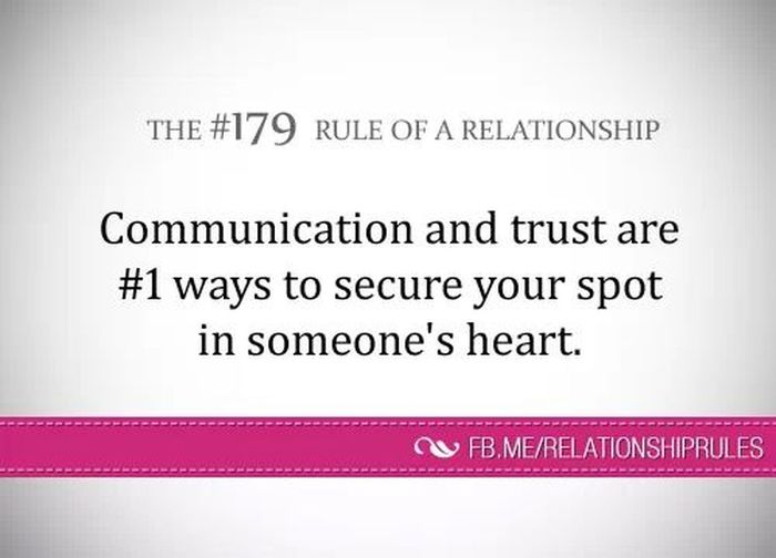communication Rule Of A Relationship
