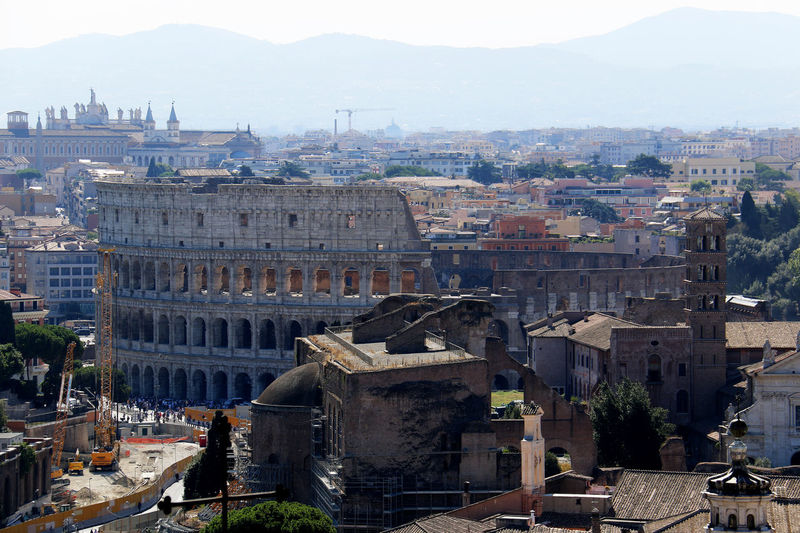 aerial view of rome taken from the victor emmanuel monument Aerial View Aerial View Of Rome Architecture City Cityscapes Historical Place Historical Sights Rome, Italy Tourist Attraction