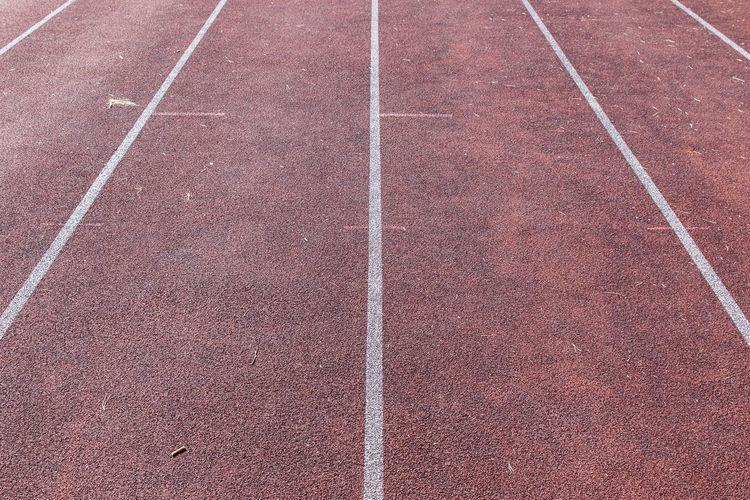 Full frame shot of running track