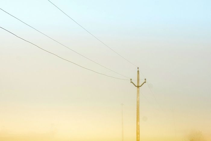 Color Foggy Fog Foggy Landscape Foggymornings No People Nature Electricity  Power Supply Outdoors Beauty In Nature Electric Lines Electricity Pole Fog_collection Electricity  India Pillar