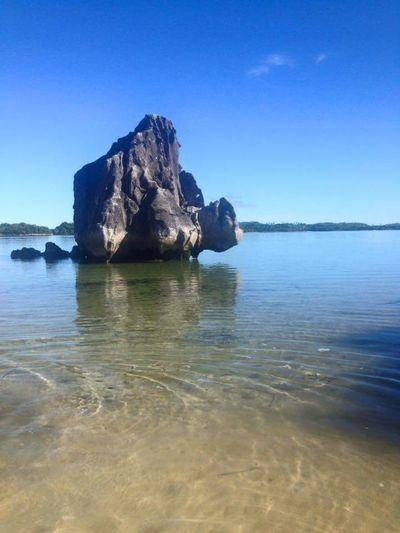Serenity............ Water Sea Clear Sky Beach Blue Rock - Object Rock Formation Sky Landscape