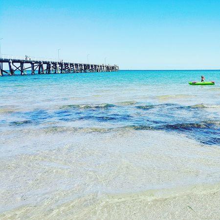Ocean Photography Waves, Ocean, Nature Water Jetty Beach Blue Blue Water Blue Sky Sand Green Kayak Man Off Guard