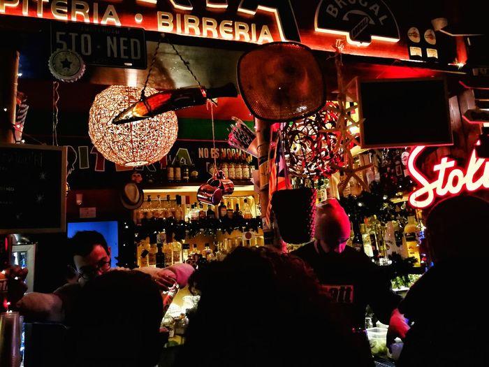 Shot, shot, shot #italy #puglia #bari #igersitalia #igerspuglia #igersbari #chupiteria #chupito #mojito  #cocktail Hanging Night Indoors  Illuminated People Adult Adults Only