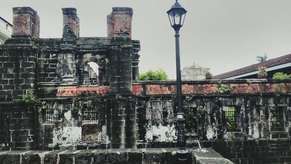 Intramuros. Philippines. Architecture Philippines City Personal Perspective Day Outdoors Built Structure Building Exterior History Travel Destinations Architecture Leisure Activity Cheapcamerachallenge Intramuros  Philippines Intramuros,manila