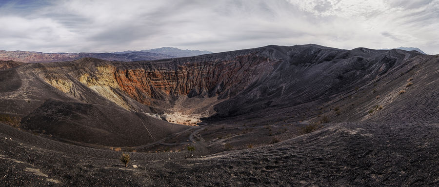 The Ubehebe Crater in Death Valley is 1km wide. 😳 Close-up Death Valley Death Valley National Park Desert Geology Geologyporn Panaromic Panorama