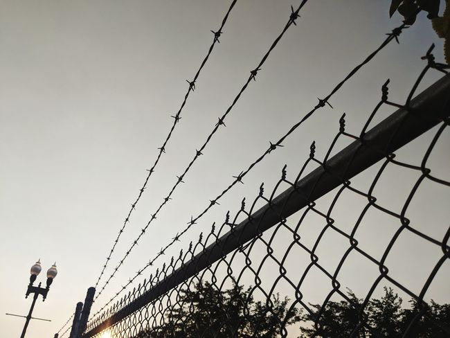 Rip down anything in your way Chain Swing Day Sunset Sun Cold Temperature Springtime Backgrounds Blackandwhite Simple Beauty Tracks Night Blurred Background Metal Bird Barbed Wire Protection Safety Security Chainlink Fence Silhouette Sky Razor Wire Forbidden Prison Wire Prisoner Barricade Prison Cell