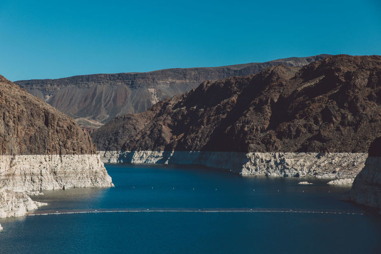 Scenic view of colorado river at hoover dam
