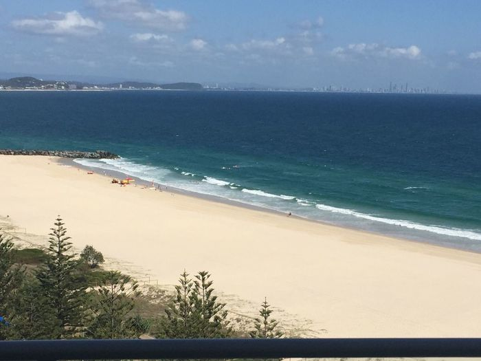Sea Horizon Over Water Beach Water Sky Scenics Nature Beauty In Nature Sand Outdoors Day Tranquility Cloud - Sky Wave Tranquil Scene No People Coolangatta