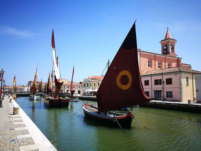 Porto canale di Cesenatico Leonardo Da Vinci City Water Cityscape Nautical Vessel Architecture Sky Building Exterior Boat