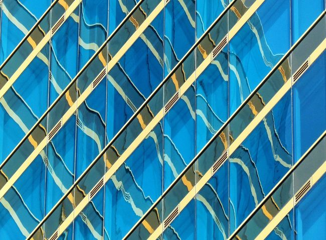 Abstract Glass Reflection Glass Window Glass Building Glass Pattern Blue Glass Light And Shadow Glass Wall Abstact Office Building Shapes And Lines Reflection Architecture Texture Blue Glass Pattern Sky Gold Mirror Art
