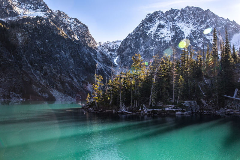 Mountain Scenics - Nature Water Tree Nature Plant Beauty In Nature Tranquility Mountain Range Lake Tranquil Scene Winter Cold Temperature No People Sky Environment Snow Day Pine Tree Land