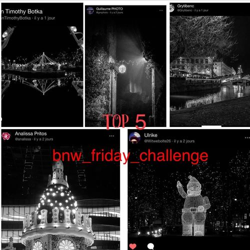 Thank you all for sharing your pics about xmas City lights ! So difficult to choose ! But , i have to do .. This is my top five ! Congratulations all ! Bnw_xmas-lights Bnw_friday_eyeemchallenge Text Night Illuminated Christmas