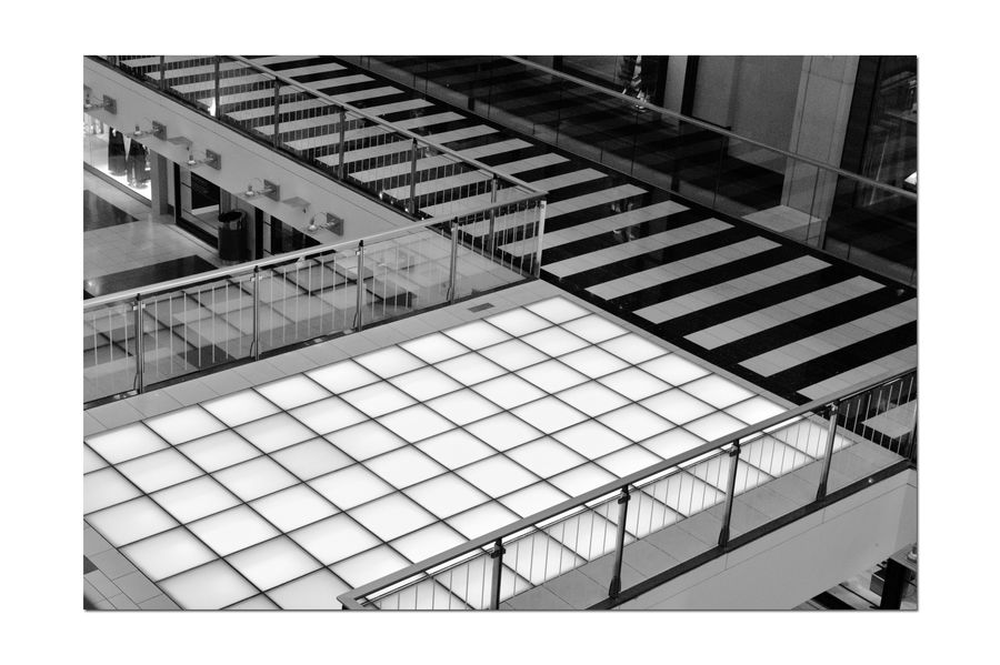 The Floors @ Westfield San Francisco Centre 4 Upscale Urban Shopping Mall Downtown S.F. Monochrome_Photography Monochrome Pattern Pieces Geometric Patterns Floors Mall Opened 1991 First Spiral Escalatores In U.S. 9 Floors 500,000 Square Ft. Redeveloped 2006 $440 Million Owned By The Westfield Group Forest City Enterprises 9 Anchor Tenets The Dome Century Theatres S.F. State University Urban Photography Black & White Black And White Photography Black And White Black And White Collection