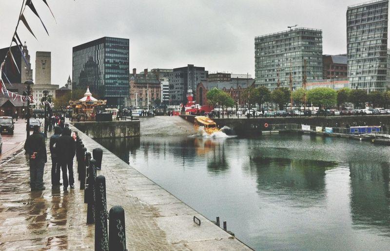 Rainy Day Duck Liverpool DUKW