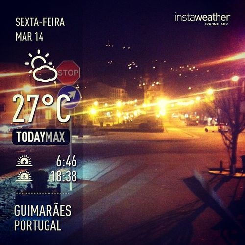 Weather Instaweather Instaweatherpro Sky outdoors nature world love followme follow beautiful instagood fun cool like life nice happy colorful photooftheday amazing guimarães portugal night winter pt hoje a noite ta agradável e o passeio será maravilhoso de certeza !!!!