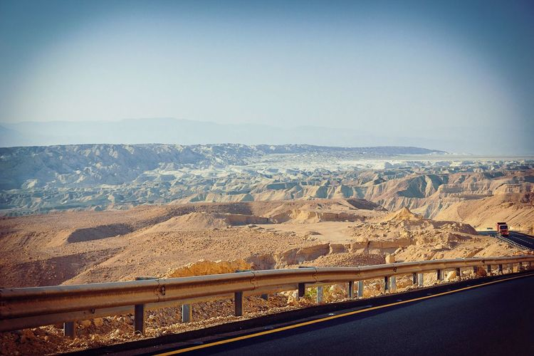 Day Road Sky Israel Desert Deadsea Deadsea_israel Sands Travel Tourism