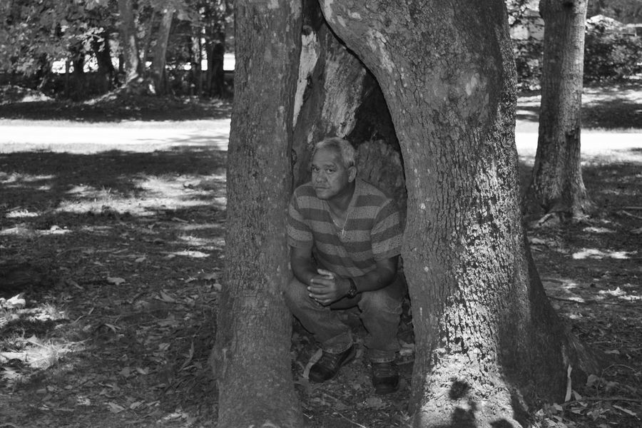 Just looking and taking photo's. Beauty In Nature Blackandwhite Day Forest Having Fun Hombre Leasure Activity Light And Shadow Monochrome Nature Outdoors Taking Photo Taking Photos Taking Pictures Tranquility Tree Tree Trunk Wood - Material WoodLand Adventure Club Alabama Outdoors Alabama Outdoor Alabama