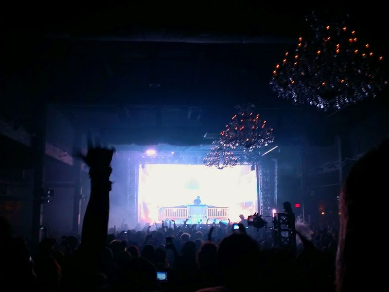 Excision Show Dj Bass light show,
