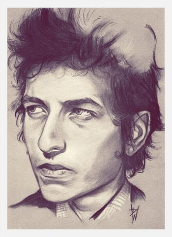 Check This Out Drawing Art Portrait bob Dylan drawing