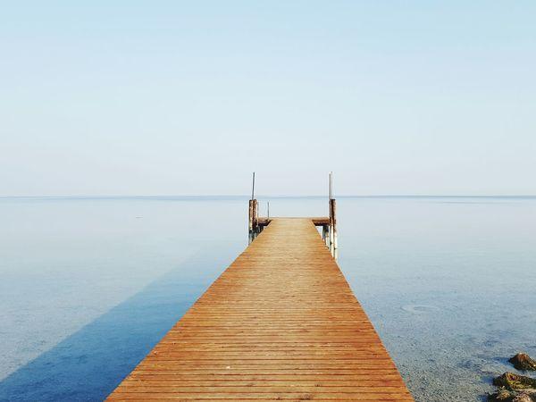 Showcase: January On The Dock Horizon Over Water Horizon Sky And Sea Water Reflections Fisherman's Wharf Seascape