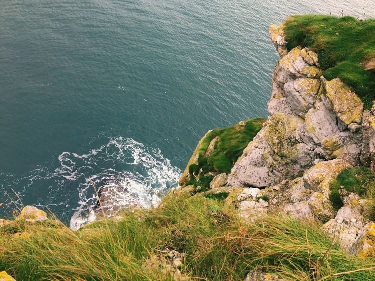 EyeEm Selects Kinbane Castle U.K. CausewayCoastalRoute High Angle View Water Cliff Travel Destinations County Antrim Northern Ireland Perspectives On Nature
