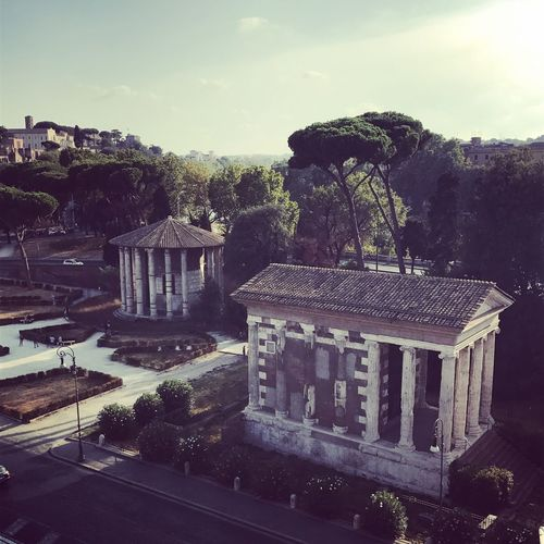 Roman Empires Vesta Architecture City Citycenter High Angle View History Temple The Past