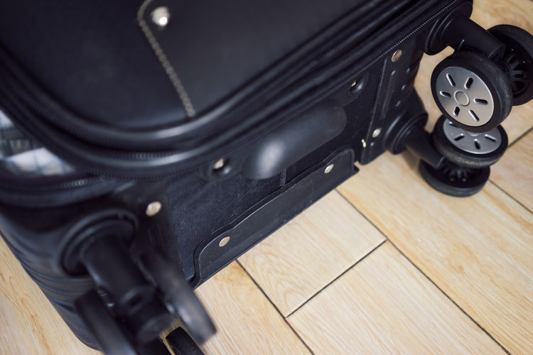 Black Color Close-up Containers High Angle View Indoors  Luggage Single Object Suitcase Trunk