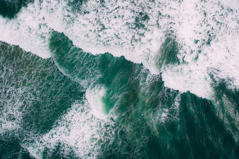 the wave Green Color Green Drone  Dronephotography Droneshot Wave Water Sea Power In Nature Motion Full Frame Force Wake High Angle View