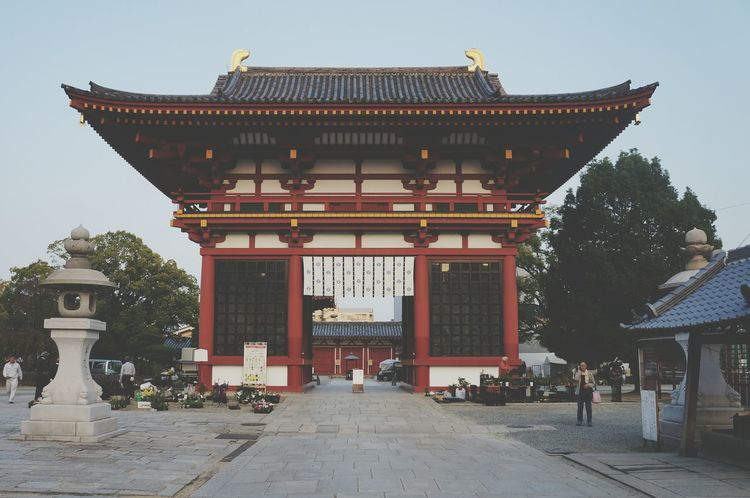 Architecture Cultures Travel City Travel Destinations Ancient Non-western Script Sky No People Outdoors Day Temple Japanese Culture Japan Japan Photography Autumn Japanese  EyeEm Best Shots First Eyeem Photo EyeEmNewHere