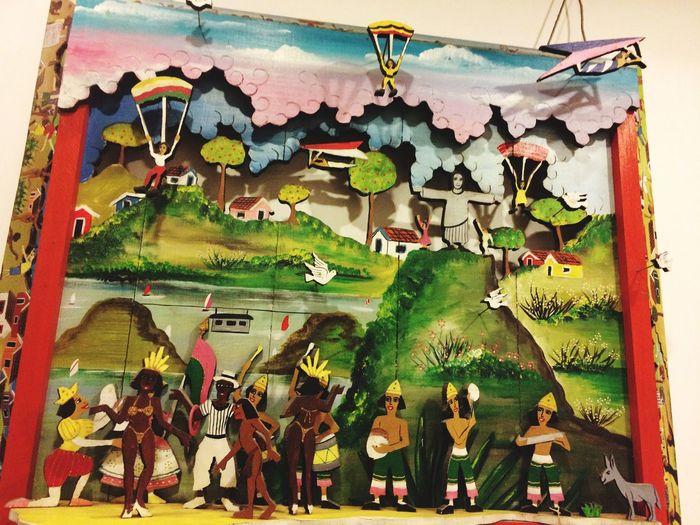 3D Wood Art Handmad Art Art Representing Different Brazilian Regions