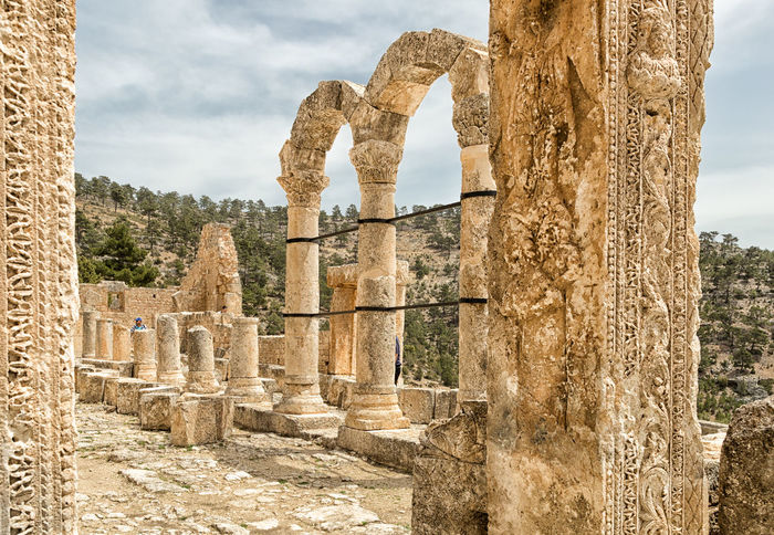 Alahan Monastery Alahan Alahan The Monastery Ancient Ancient Civilization Architectural Column Architecture Built Structure Byzantine Byzantine Architecture Carvings In Stone Christianity Cliff Faith Historical Historical Sights Monastery Mountains Mut Nature Religious  Religious Architecture Ruins Scenics Stone Turkey