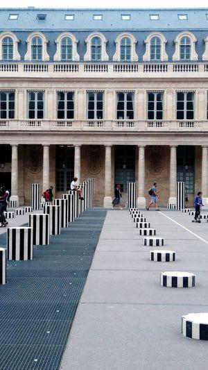 Architecture Modern Art Modern Architecture Place Du Palais Royal Paris Paris Daniel Buren France Bw